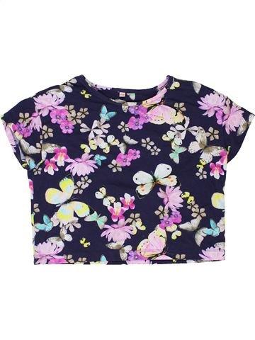 Camiseta de manga corta niña SANS MARQUE blanco 8 años verano #1422780_1