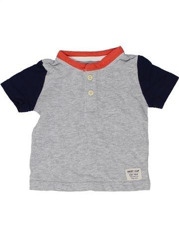 Camiseta de manga corta niño GAP gris 6 meses verano #1423223_1