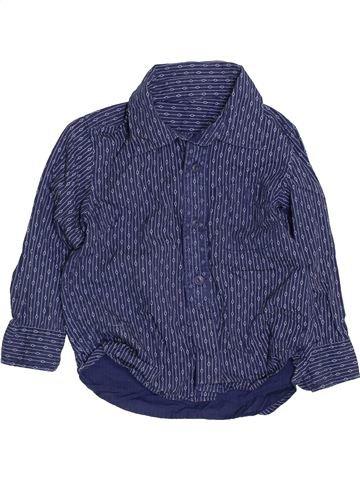 Camisa de manga larga niño SANS MARQUE azul 3 años invierno #1423326_1