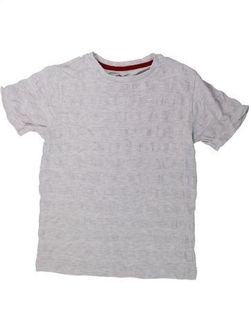 T-shirt manches courtes garçon BOYS gris 8 ans été #1423502_1