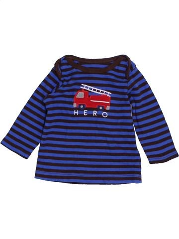 Camiseta de manga larga niño SANS MARQUE azul 3 meses invierno #1423605_1