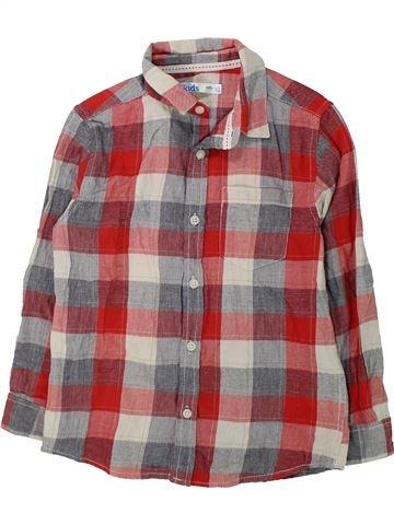 Chemise manches longues garçon M&CO marron 7 ans hiver #1423992_1