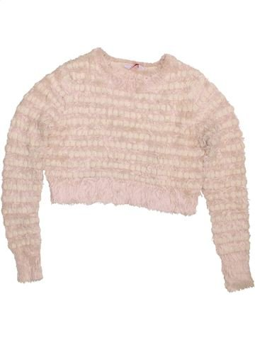 Pull fille M&CO beige 10 ans hiver #1424064_1