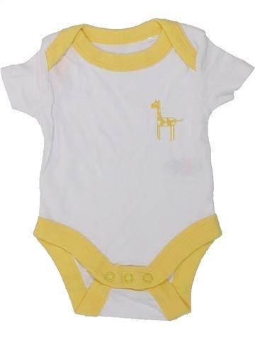 T-shirt manches courtes garçon LILY & DAN blanc naissance été #1424406_1