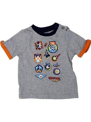 Camiseta de manga corta niño MOTHERCARE gris 6 meses verano #1424407_1