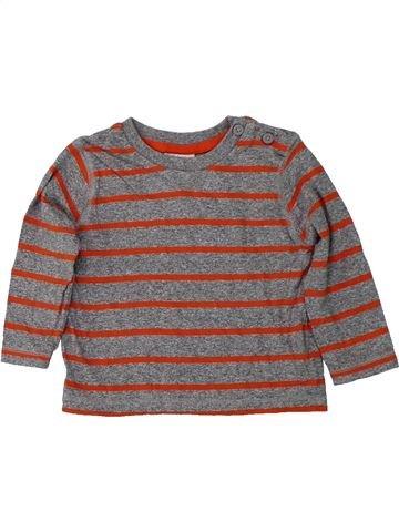 Camiseta de manga larga niño F&F marrón 6 meses invierno #1424437_1