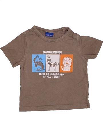 T-shirt manches courtes garçon CHEROKEE marron 18 mois été #1424840_1