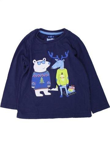 T-shirt manches longues garçon LUPILU bleu 4 ans hiver #1425007_1