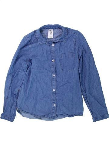 Blouse manches longues fille C&A bleu 10 ans hiver #1425250_1