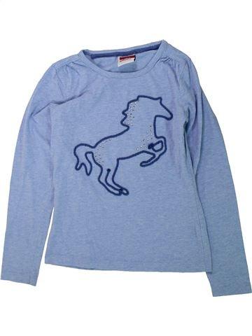T-shirt manches longues fille YIGGA bleu 10 ans hiver #1425308_1