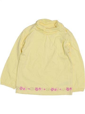 T-shirt col roulé fille OKAY beige 18 mois hiver #1425410_1