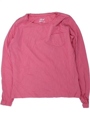 T-shirt manches longues fille ALIVE rose 10 ans hiver #1425515_1