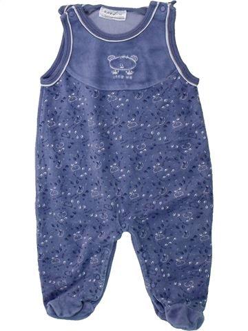 Pyjama 1 pièce garçon OKAY bleu 3 mois hiver #1425848_1