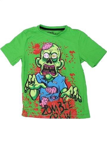 T-shirt manches courtes garçon F&F vert 8 ans été #1426598_1