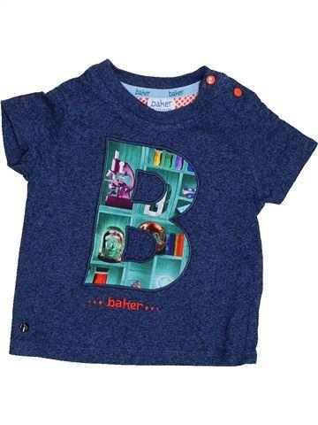 T-shirt manches courtes garçon BAKER bleu 9 mois été #1426662_1