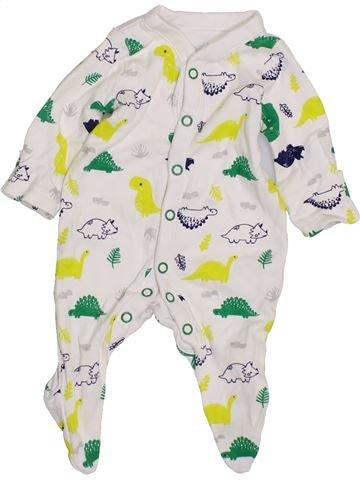 Pyjama 1 pièce garçon MOTHERCARE blanc prématuré été #1426830_1
