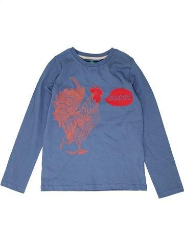 T-shirt manches longues garçon JOHN LEWIS bleu 10 ans hiver #1426888_1