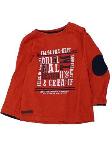 T-shirt manches longues garçon TERRE DE MARINS rouge 3 ans hiver #1428014_1