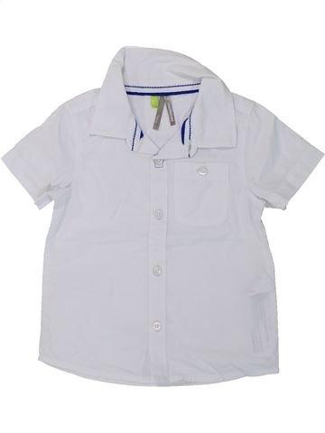 Chemise manches courtes garçon ORCHESTRA blanc 12 mois été #1428245_1