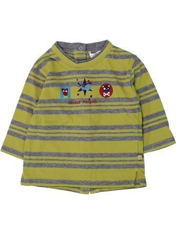 T-shirt manches longues garçon KIABI vert 6 mois hiver #1428260_1