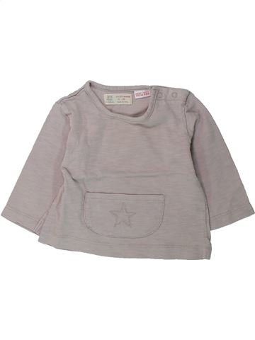 T-shirt manches longues fille ZARA gris 6 mois hiver #1428371_1