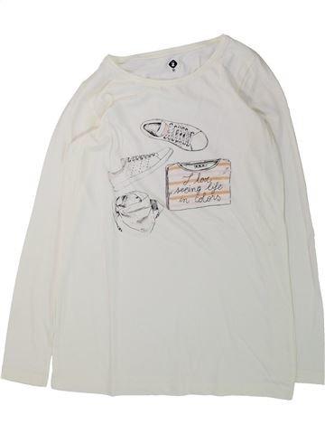 T-shirt manches longues fille GENERATION Z blanc 10 ans hiver #1428517_1