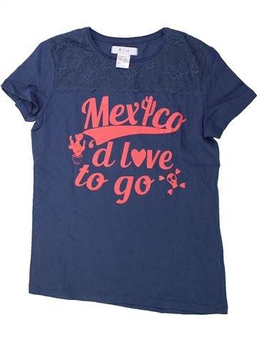 Camiseta de manga corta niña LA REDOUTE CRÉATION azul 12 años verano #1428524_1