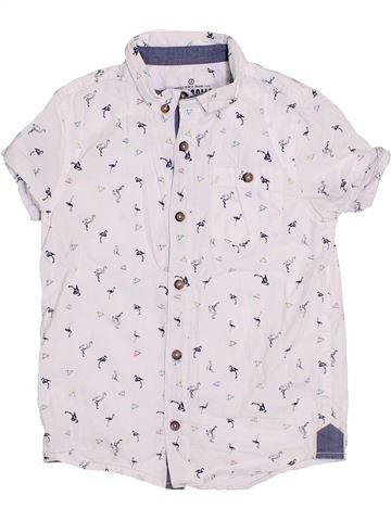 Chemise manches courtes garçon F&F blanc 7 ans été #1428671_1