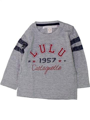 T-shirt manches longues garçon LULU CASTAGNETTE gris 18 mois hiver #1428773_1