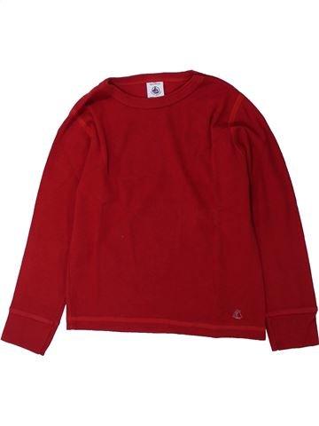 T-shirt manches longues garçon PETIT BATEAU violet 4 ans hiver #1429130_1
