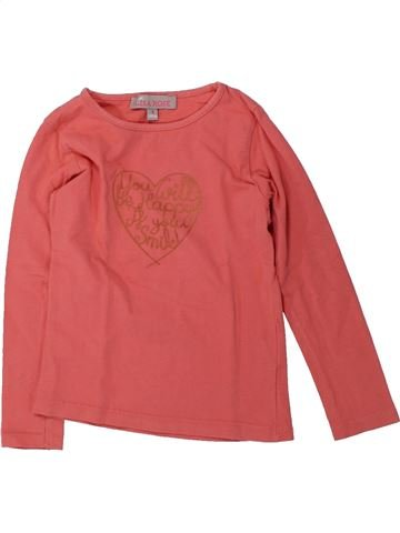 T-shirt manches longues fille LISA ROSE rose 4 ans hiver #1429435_1