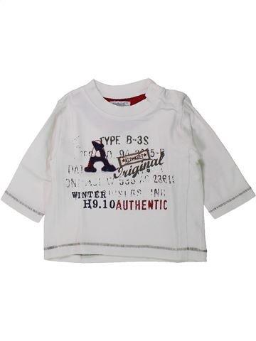 T-shirt manches longues garçon ALPHABET blanc 6 mois hiver #1429800_1