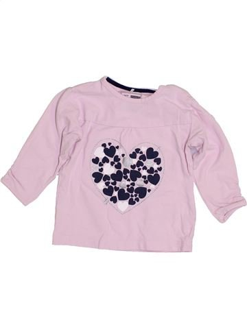 T-shirt manches longues fille NAME IT rose 6 mois hiver #1430081_1