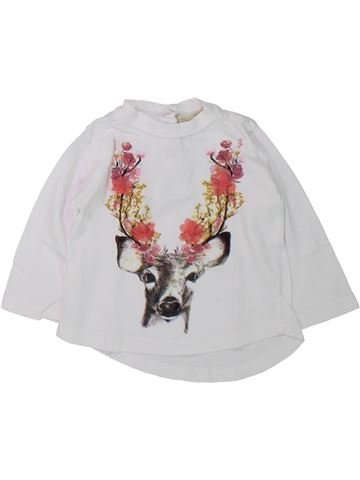 T-shirt manches longues fille ZARA blanc 6 mois hiver #1430226_1