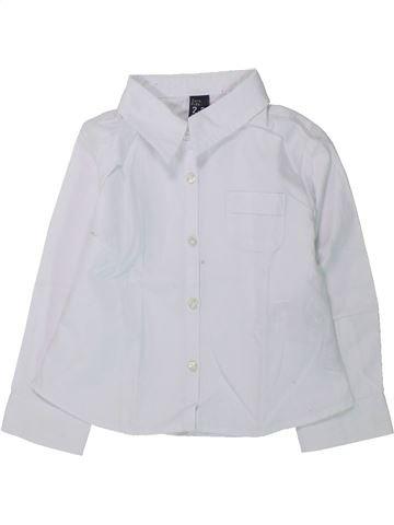 Chemise manches longues garçon ZARA blanc 3 ans hiver #1430448_1