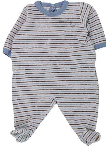 Pyjama 1 pièce garçon PETIT BATEAU gris 1 mois hiver #1430818_1