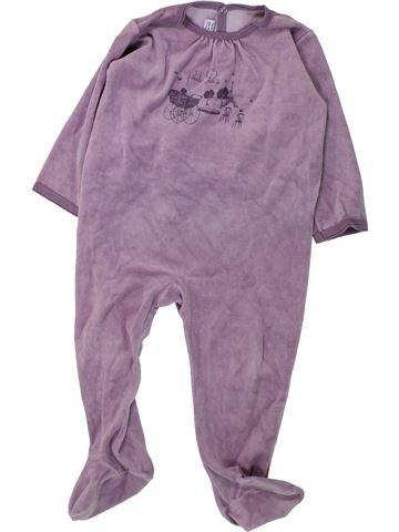 Pijama de 1 pieza niña PETIT BATEAU violeta 2 años invierno #1430858_1