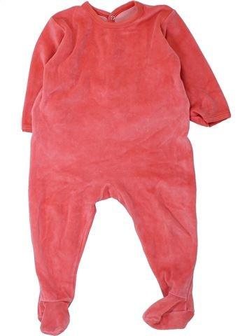 Pyjama 1 pièce fille PETIT BATEAU rose 18 mois hiver #1430860_1
