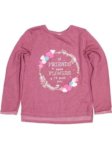 Sweat fille F&F rose 9 ans hiver #1430970_1
