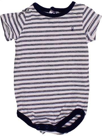 T-shirt manches courtes garçon OKAIDI blanc 3 mois été #1430993_1