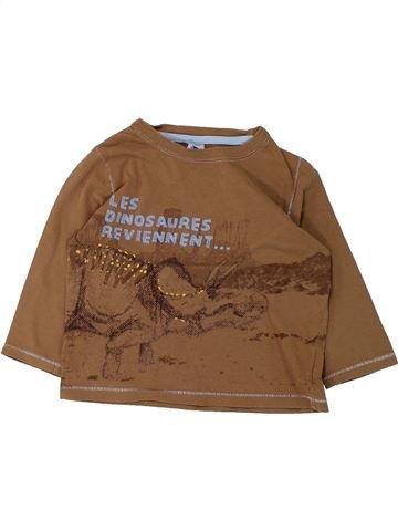 Camiseta de manga larga niño PETIT BATEAU marrón 3 años invierno #1431052_1