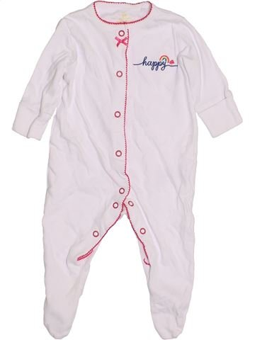 Pyjama 1 pièce fille NUTMEG blanc 3 mois hiver #1431076_1