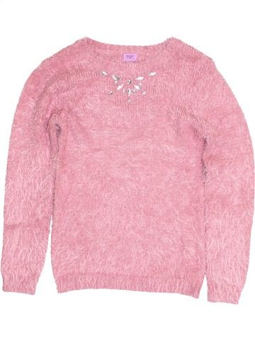 Pull fille F&F rose 10 ans hiver #1431316_1
