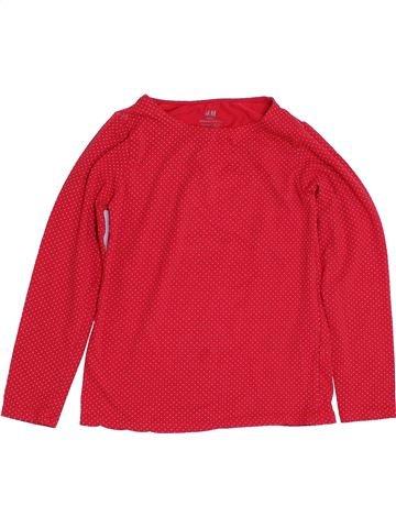 T-shirt manches longues fille H&M rouge 8 ans hiver #1431356_1