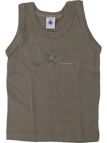 Top - Camiseta de tirantes niño PETIT BATEAU marrón 2 años verano #1431405_1