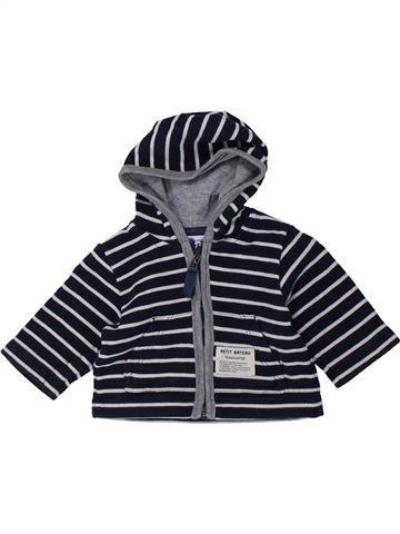 Sudadera niño PETIT BATEAU blanco 3 meses invierno #1431440_1