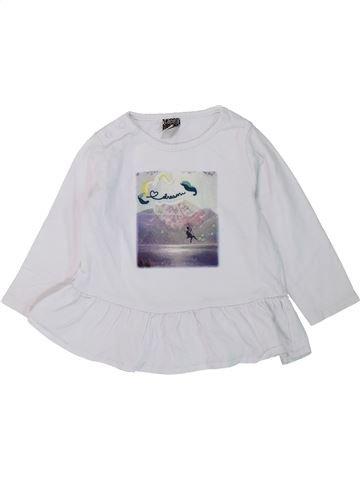 T-shirt manches longues fille TAPE À L'OEIL blanc 12 mois hiver #1431561_1