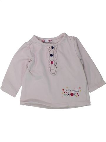 Camiseta de manga larga niña DPAM gris 3 meses invierno #1431574_1