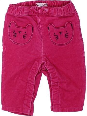 Pantalón niña DPAM rosa 3 meses invierno #1431579_1