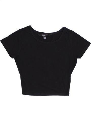 T-shirt manches courtes fille NEW LOOK noir 11 ans été #1431586_1